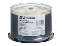 DVD-R 4.7GB 8X UltraLife Gold Archival Grade with Branded Surface and Hard Coat - 50pk Spindle