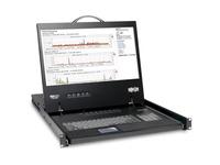 """Tripp Lite 8-Port Rack Console VGA KVM Switch w/ 19"""" LCD 1U TAA"""