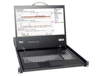 "Tripp Lite 16-Port Rack Console Cat5 KVM Switch 1U RM 19"" LCD Rackmount"