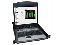 "Tripp Lite 8-Port Rack Console KVM Switch w/19"" LCD & 8 PS2/USB Cables 1U"