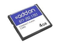 AddOn Cisco MEM-CF-256U4GB Compatible 4GB Flash Upgrade