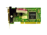 Brainboxes 1 Port RS232 Low Profile PCI Serial Card with LPT Parallel Printer Port