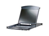 ATEN 8-Port 17in. Dual Rail CAT5 LCD KVM Over the Net-TAA Compliant