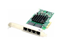 AddOn 10/100/1000Mbs Quad Open RJ-45 Port 100m PCIe x4 Network Interface Card