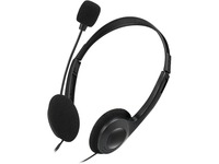 Adesso Xtream H4 - 3.5mm Stereo Headset with Microphone - Noise Cancelling - Wired- 6 ft cable- Lightweight