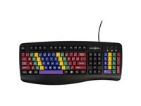 Ablenet LessonBoard standard QWERTY keyboard color coded by finger layout