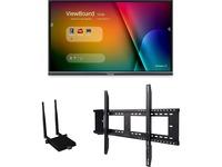 """Viewsonic IFP7550-E1 - 75"""" ViewBoard 4K Ultra HD Interactive Flat Panel Bundle"""