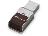 128GB Fingerprint Secure USB 3.0 Flash Drive with AES 256 Hardware Encryption - Silver