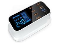 4XEM 40W 8-Port USB Desktop Charger Quick Charge (QC)