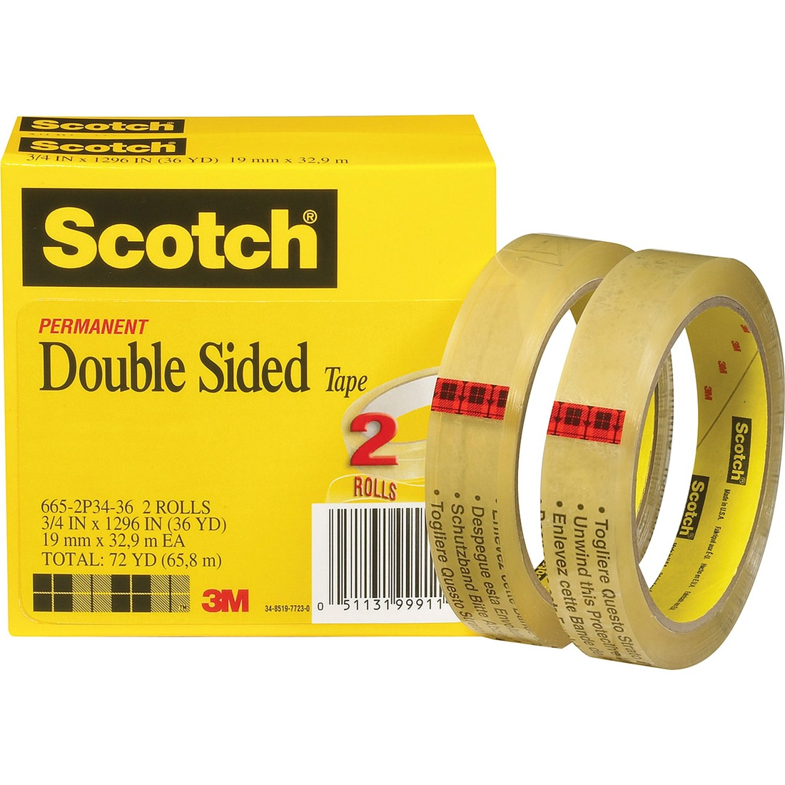 scotch permanent double sided tape 3 4 x 1296. Black Bedroom Furniture Sets. Home Design Ideas