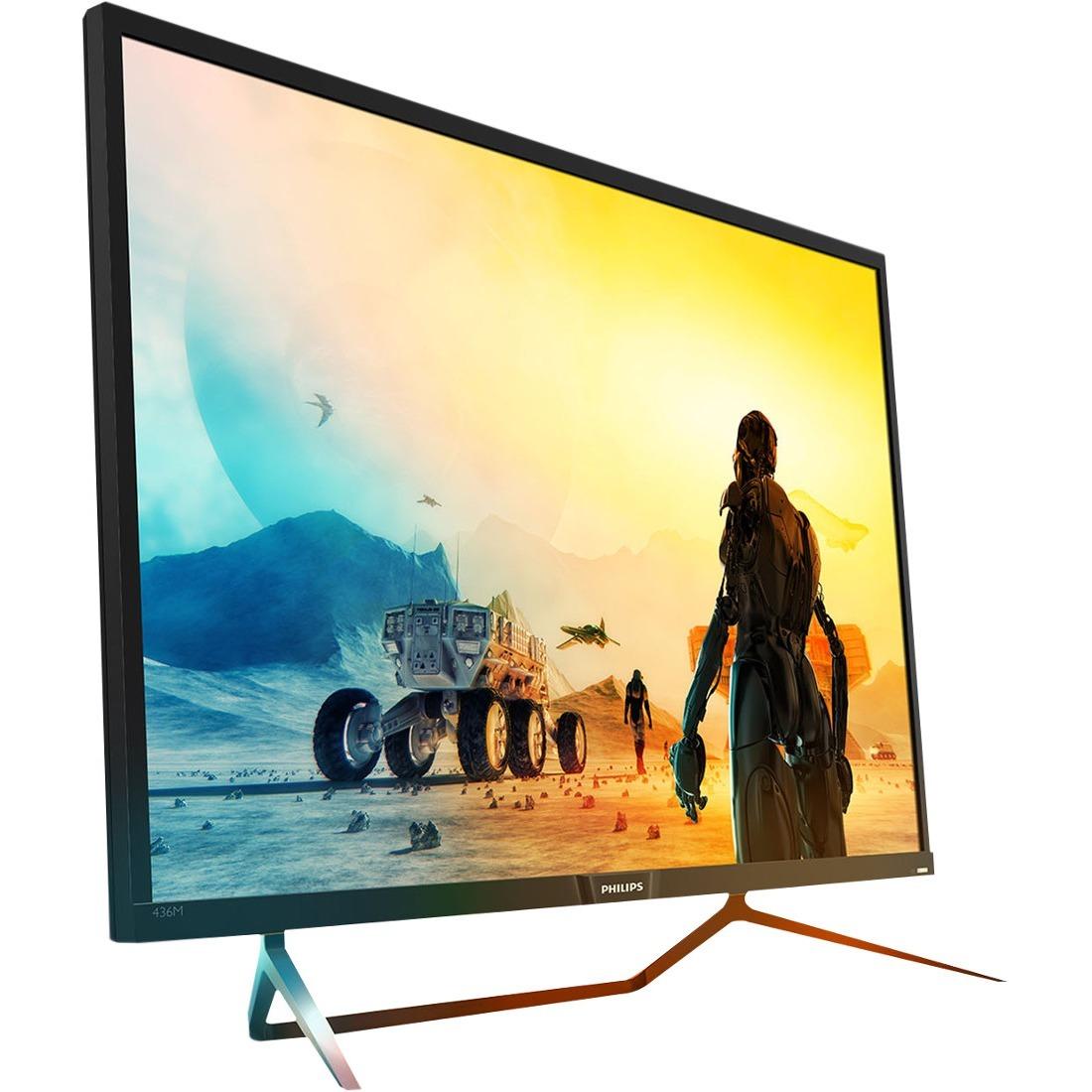 "Philips Momentum 436M6VBPAB 42.5"" 4K UHD WLED Gaming LCD Monitor - 16:9 - Textured Black, Glossy Black_subImage_1"