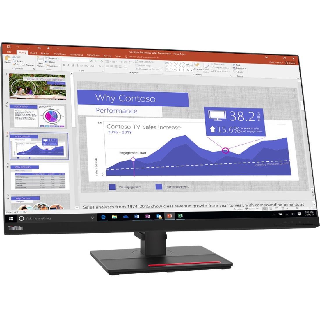 """Lenovo ThinkVision T32p-20 31.5"""" 4K UHD LED LCD Monitor - 16:9 - Raven Black_subImage_1"""