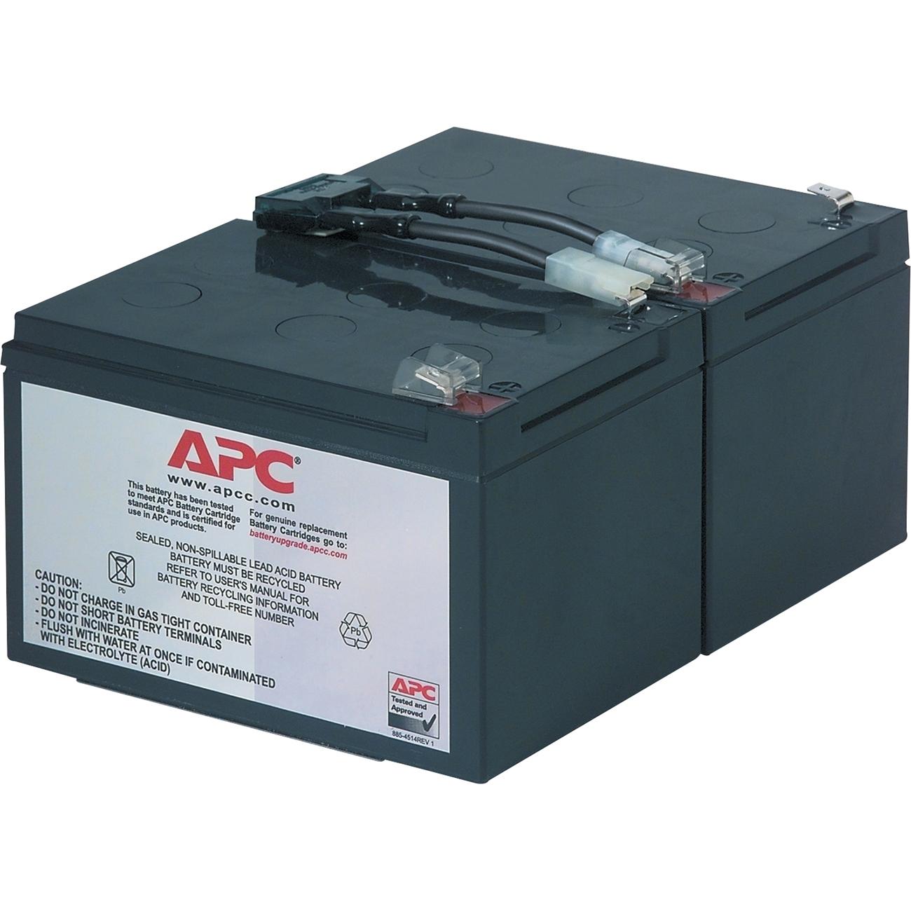 APC Replacement Battery Cartridge #6 For BP1000 SU1000 RBC6