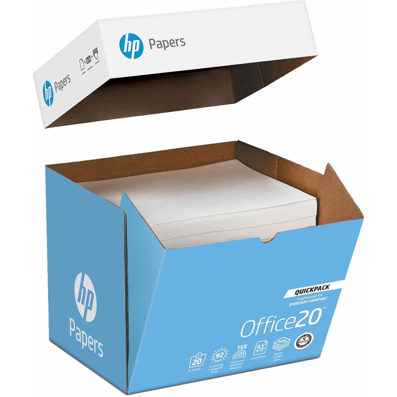 What is weight of 10 reams of 20 lb paper?