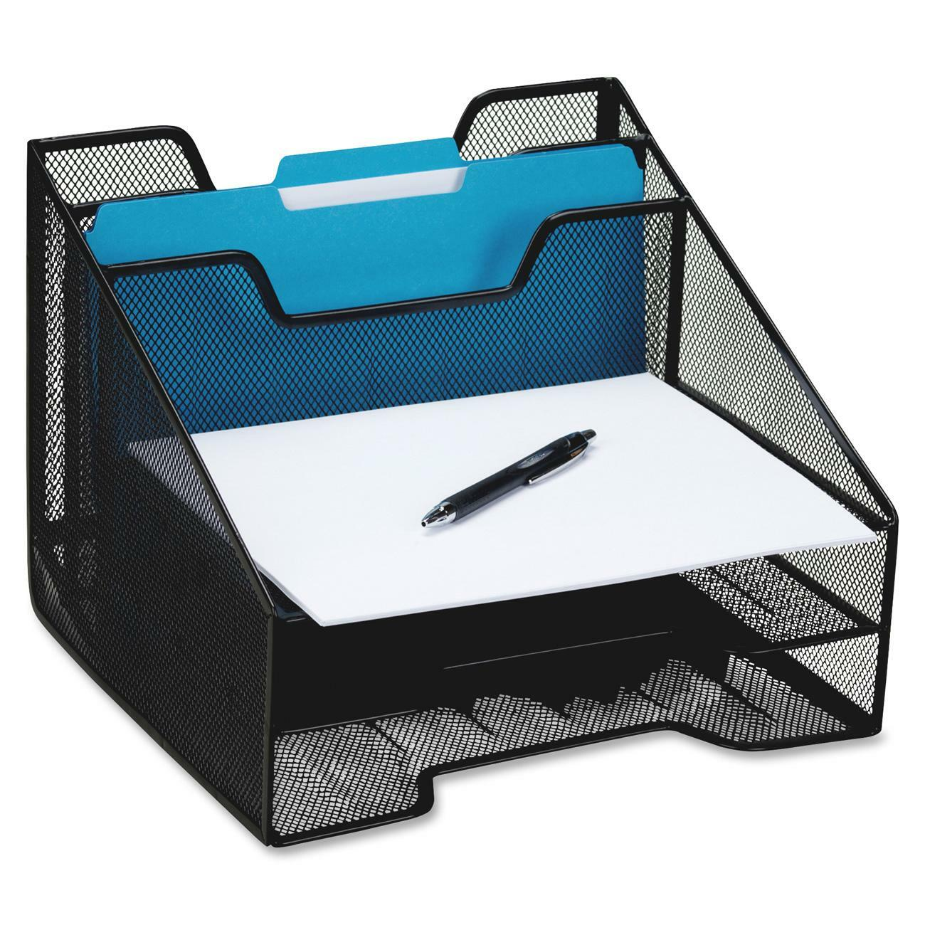 Mesh Combo Tray Includes Two Incline Sorting Vanes And Three Trays For Work E Organization Design Allows Easy Access