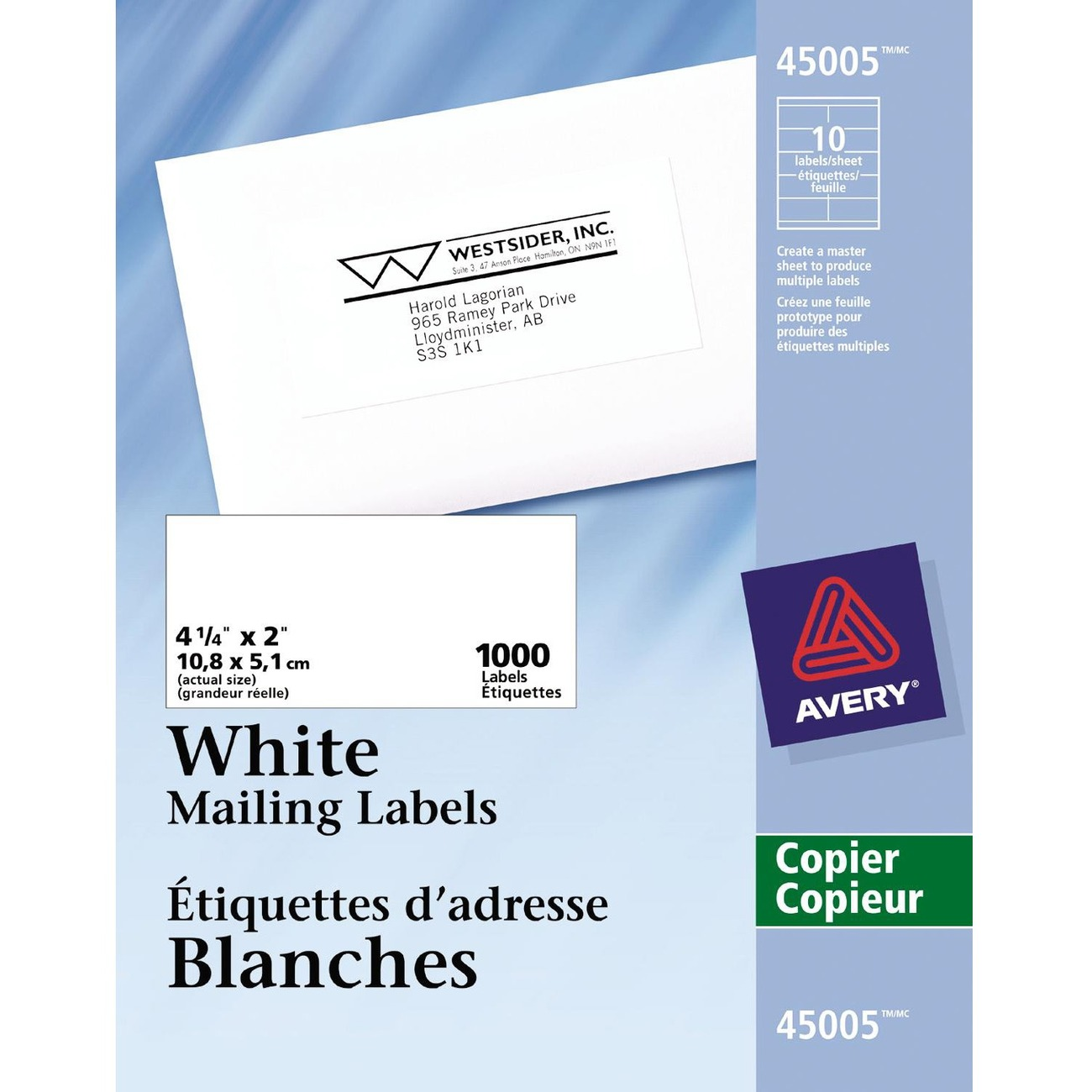 Kamloops office systems office supplies labels for Avery template 5352