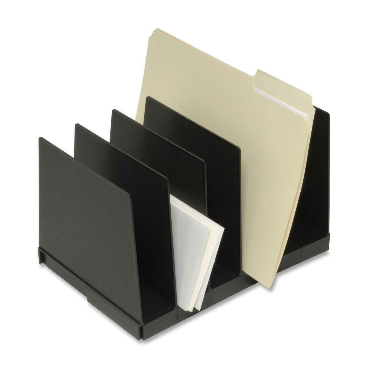 Korr Expand A File Desktop Organizer 6 Compartment S 2 50 80 Mm 8 5 Height X 12 Width Depth Recycled Black Plastic 1set