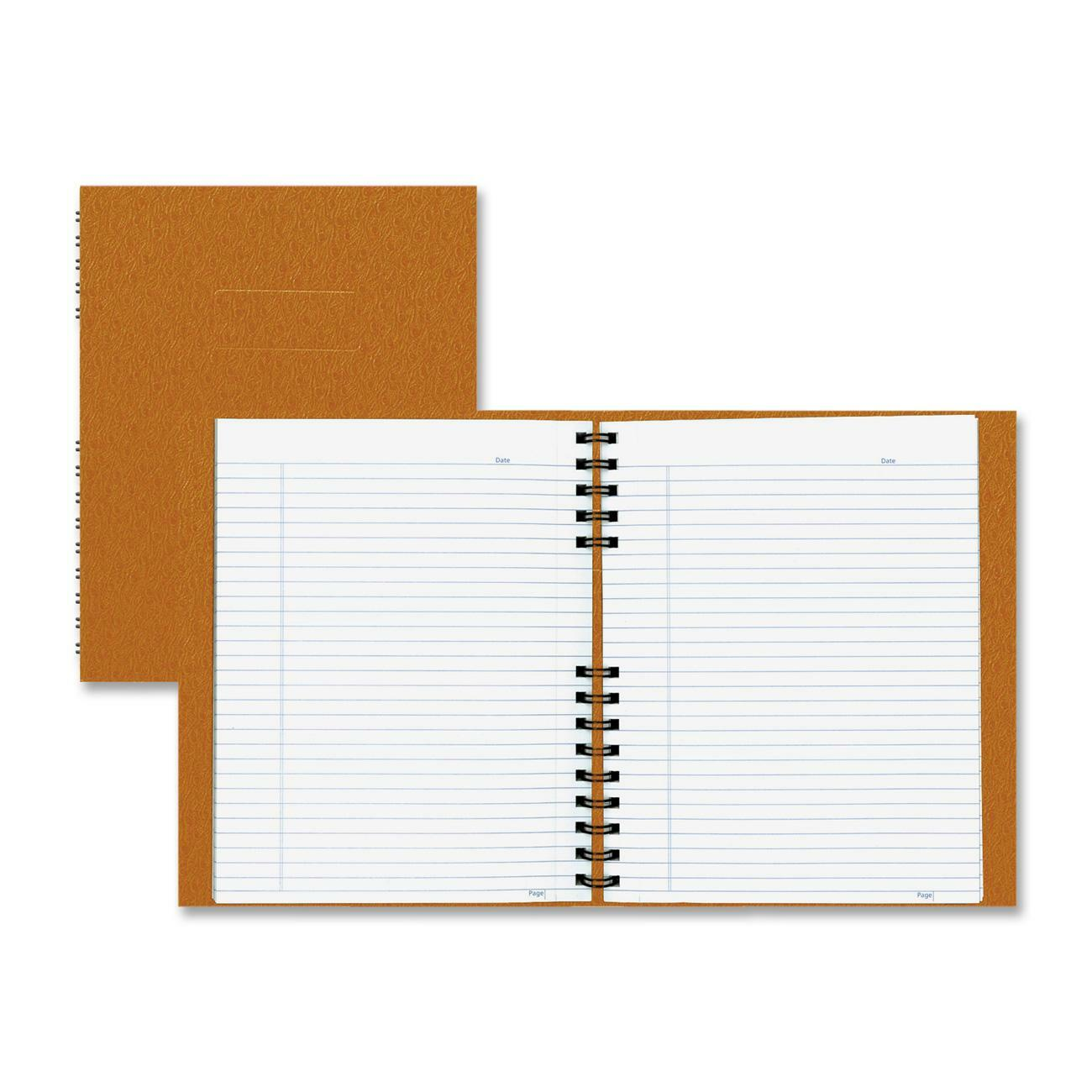 Rediform office products subject wirebound notebook wide - 192 Page Notebook With An Ostrich Like Cover Is Twin Wire Bound To Allow The Book To Lie Flat On Your Desk For Easy Handwriting