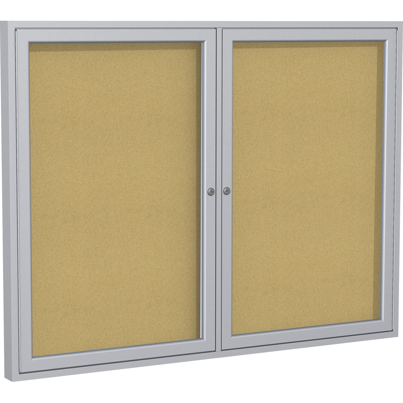 cork boards for office. Enclosed Cork Bulletin Board Features Two Doors And Anodized Aluminum In A Satin Finish. The Self-healing Natural Surface Will Hold Up Under Most Boards For Office