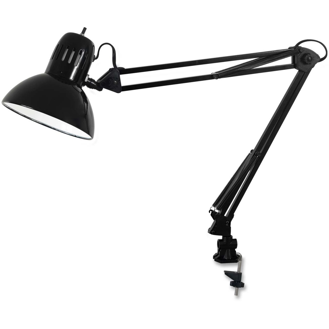 Catalina Lighting Edge-Mount Clamp-On Swing Arm Lamp, 60W Incandescent Bulb