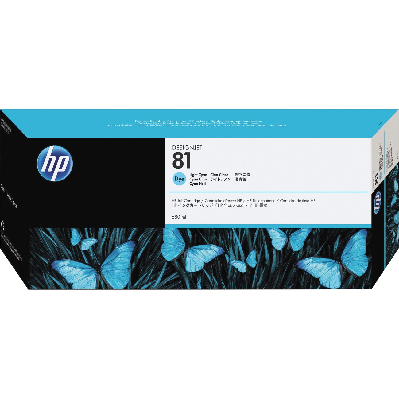 HP Genuine 81 Light Cyan Ink Cartridge For DesignJet 5000 C4934A
