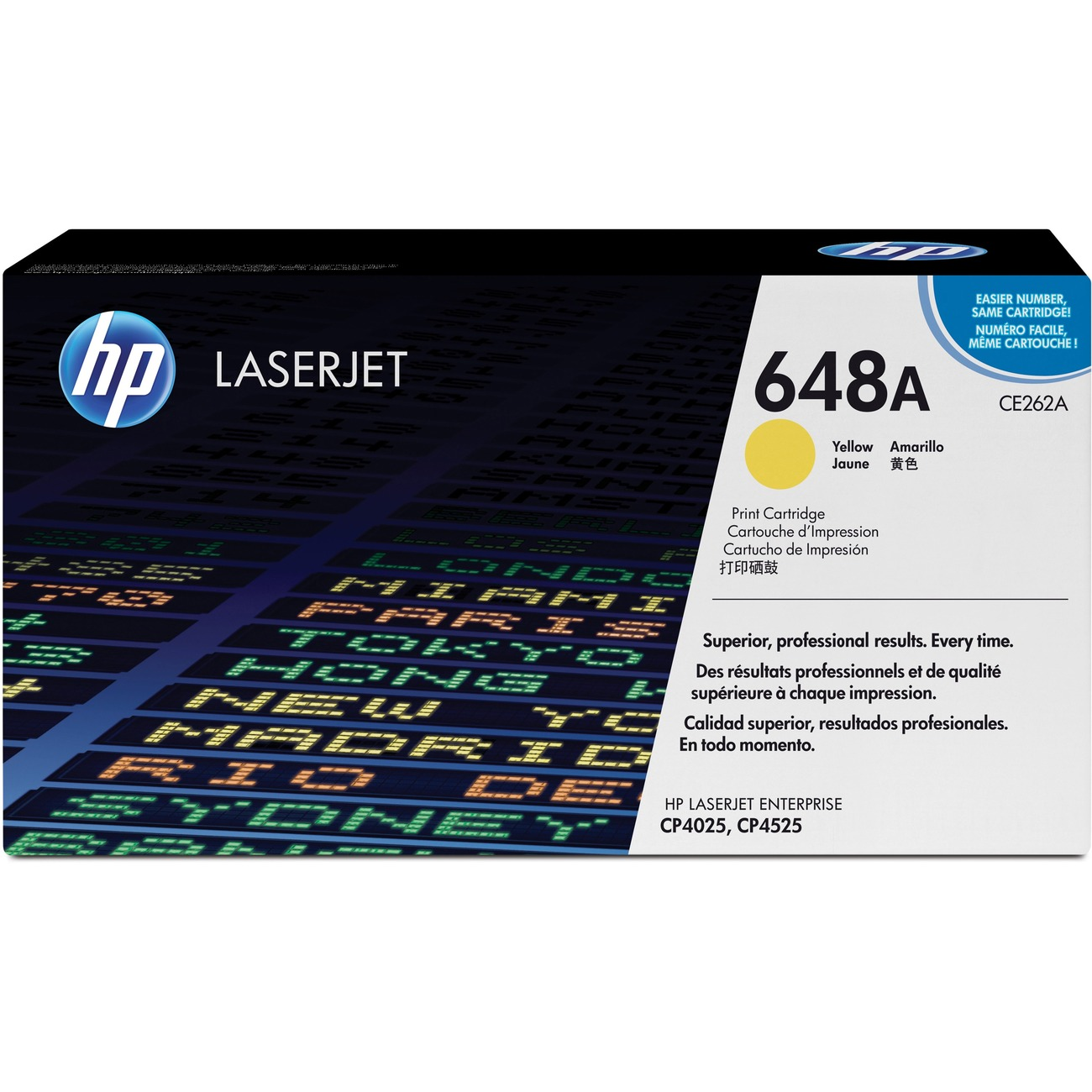 HP 648A Yellow Toner Original Cartridge Laser For LaserJet CP4025 CP4525 CE262A