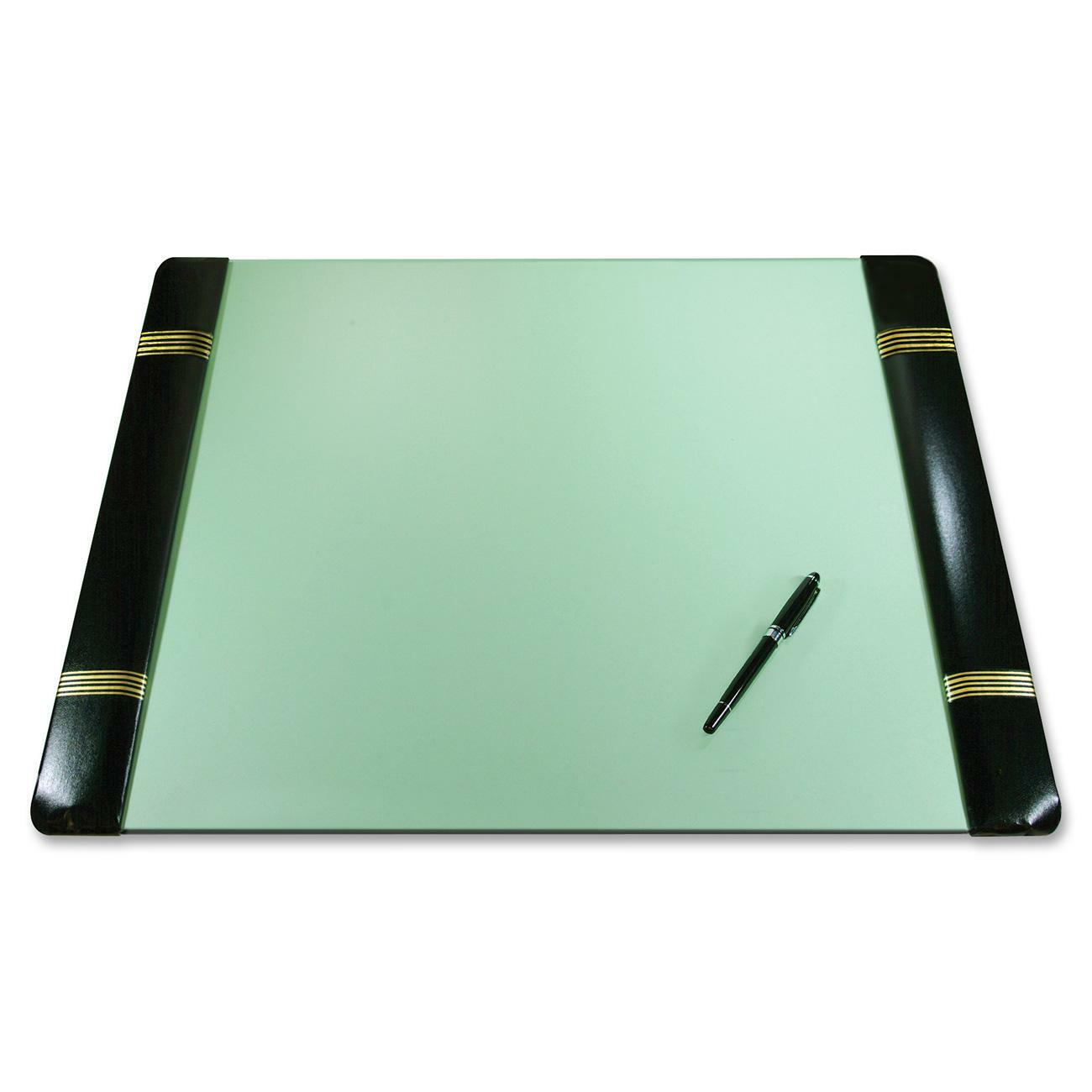Traditional Style Classic Padded Gold Tooled Side Panel Blotter Desk Pad Complements Any Home Or Office Refillable Paper Protects Both And