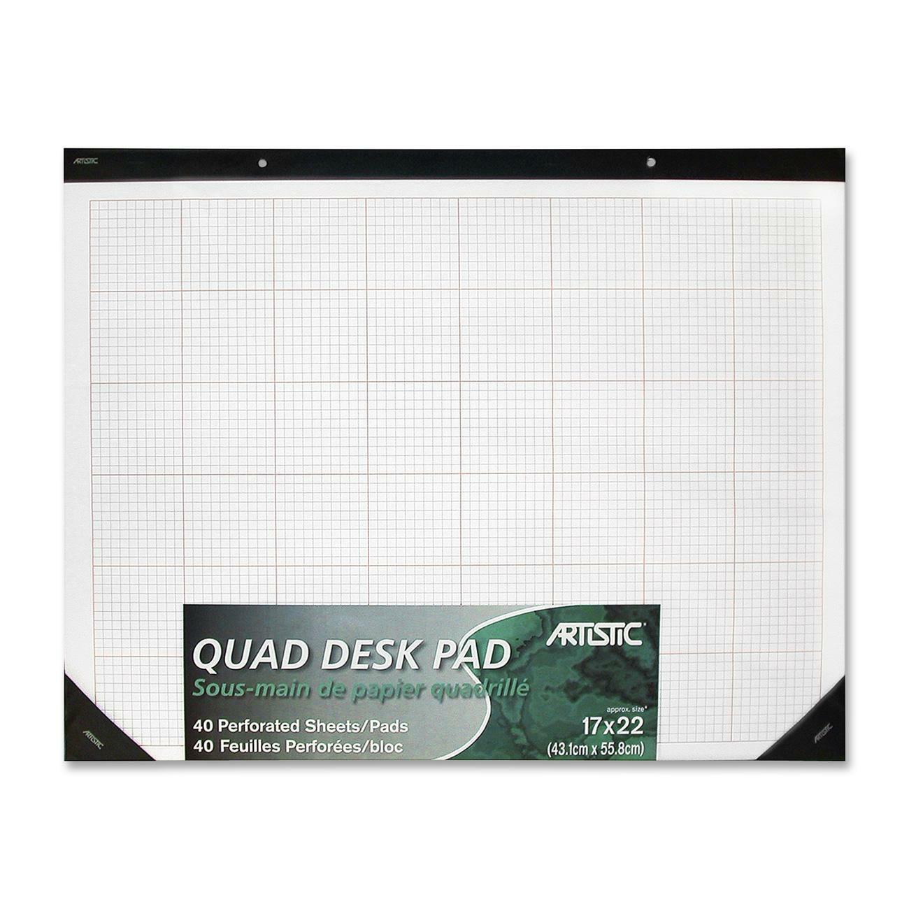 Artistic Quad Ruled Desk Pad