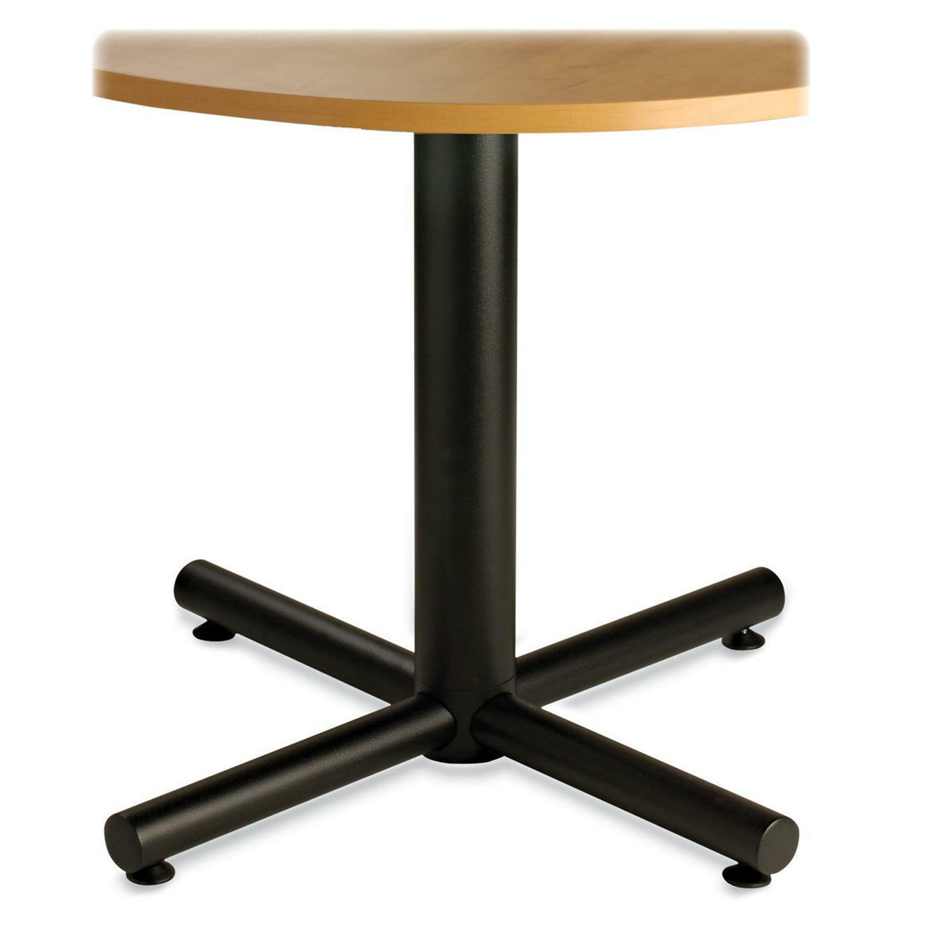 Heartwood 9003030mxb conference table base with levelers cross base powder coated