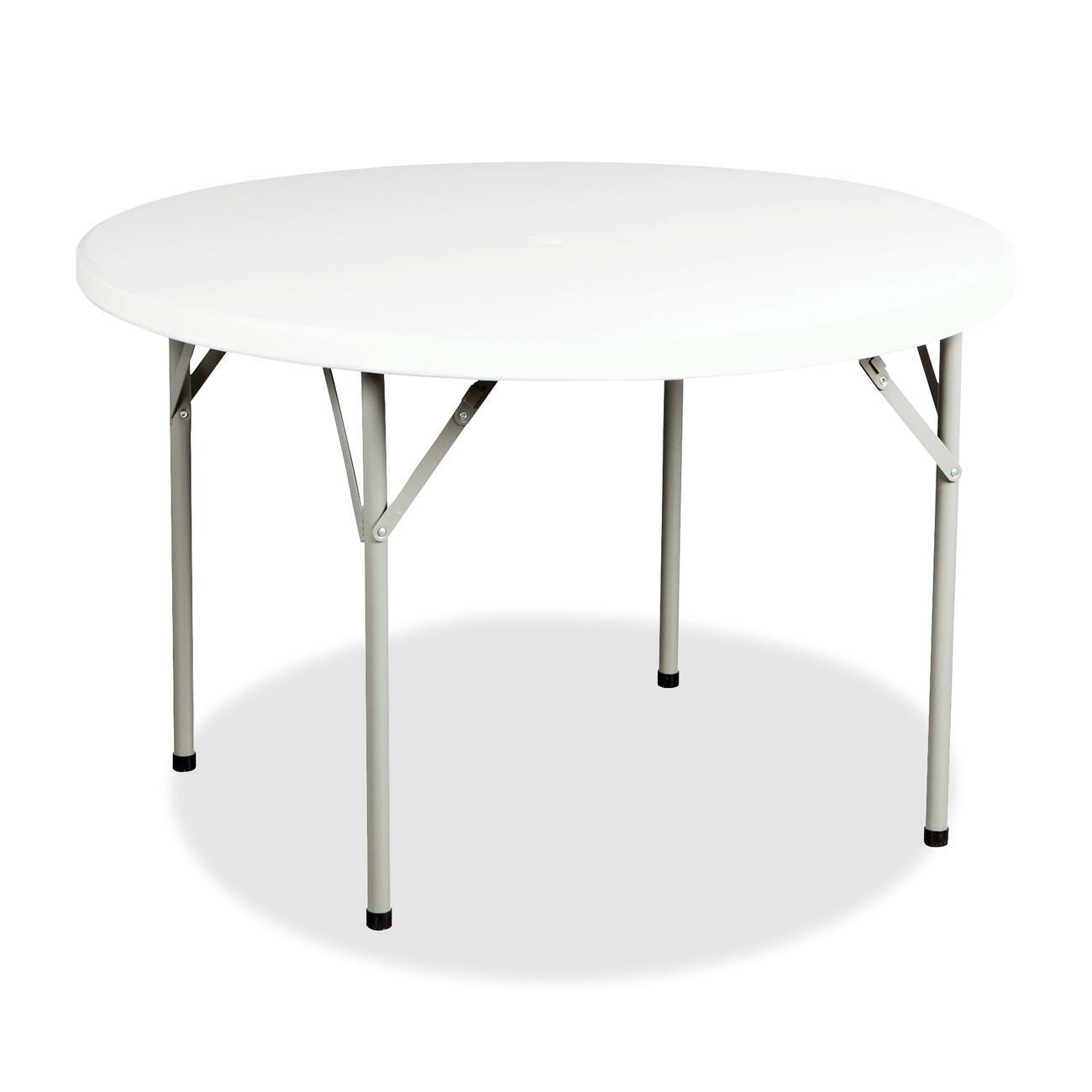 Versatile, Lightweight Multipurpose Folding Table Features A  Scratch Resistant, Weatherproof, High Impact, Polyethylene Top And Durable  Steel Legs For ...
