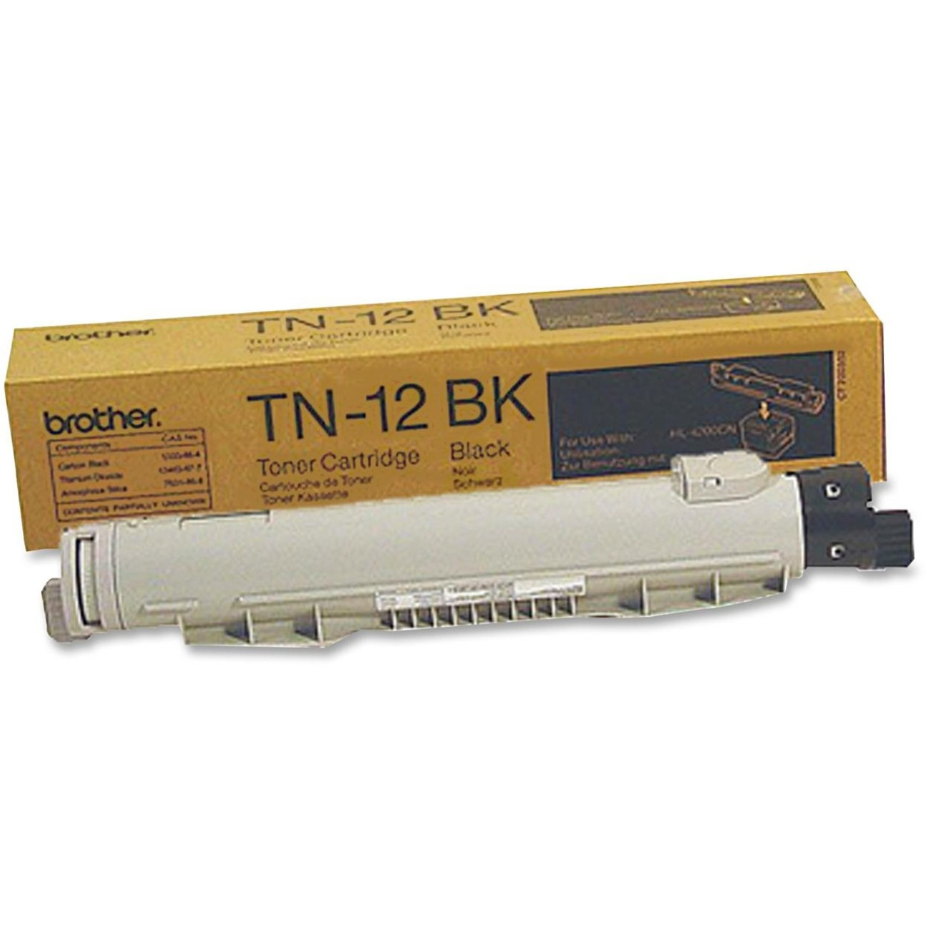 Brother Genuine TN-12BK Toner Cartridge Black 9000 Pages TN12BK