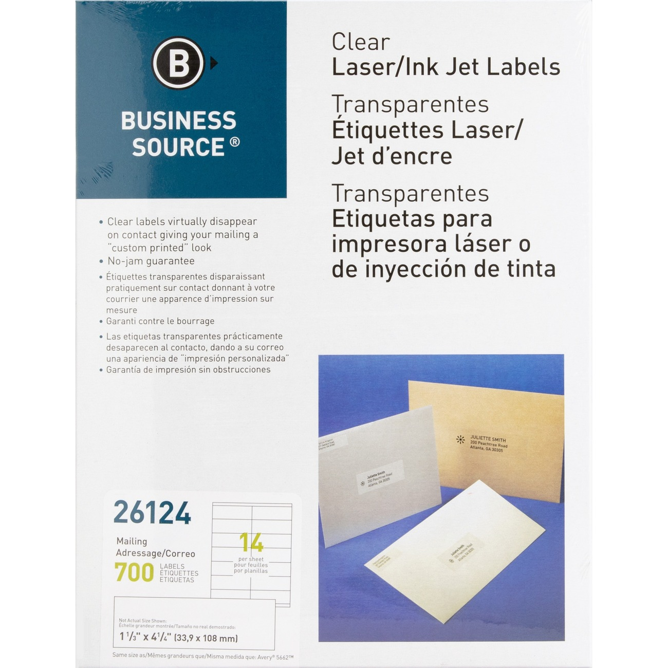 Clear Address Labels With A Matte Finish Virtually Disappear On Paper For Professional Customized Look Each Mailing Label Is Backed Permanent