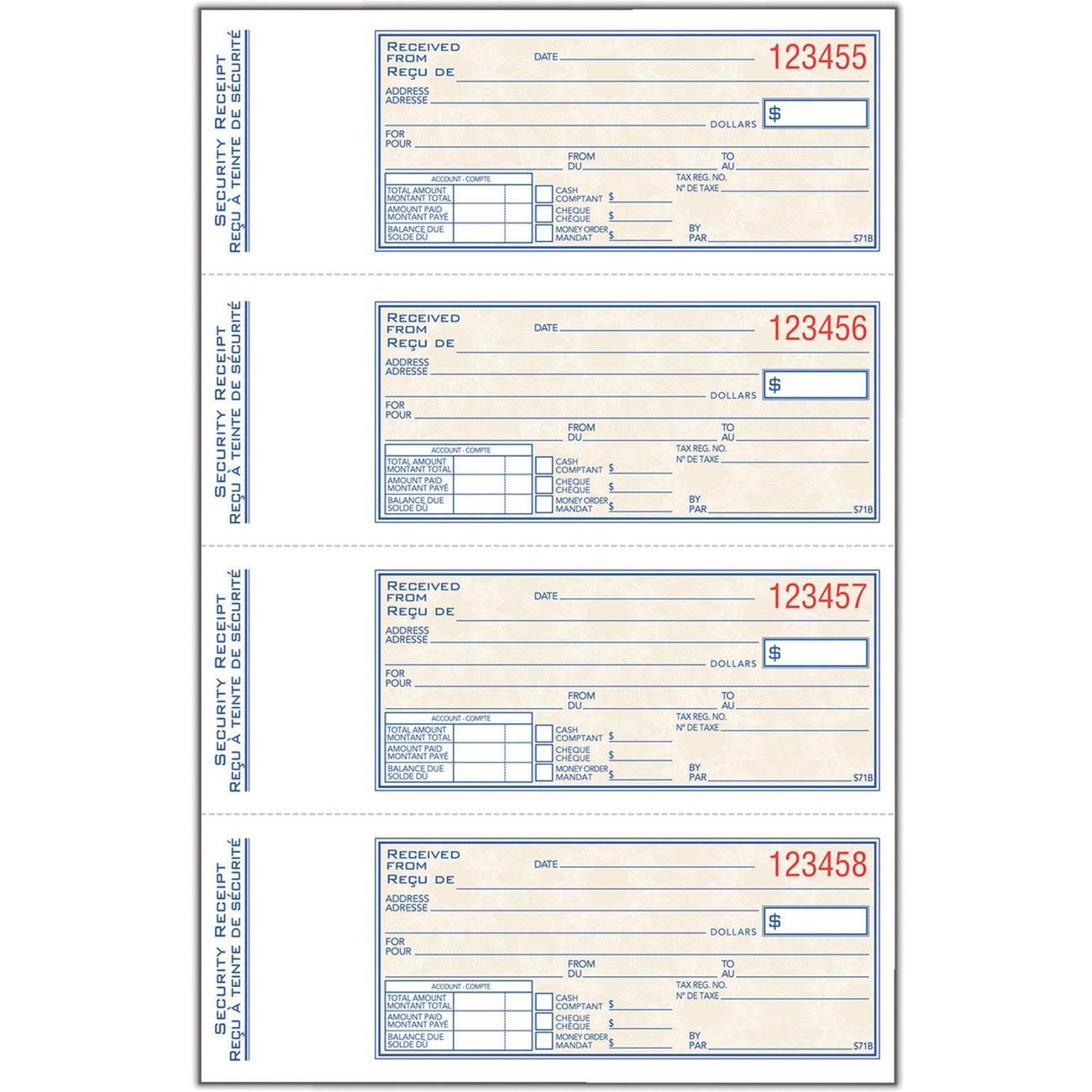 printable receipt book – Printable Receipts