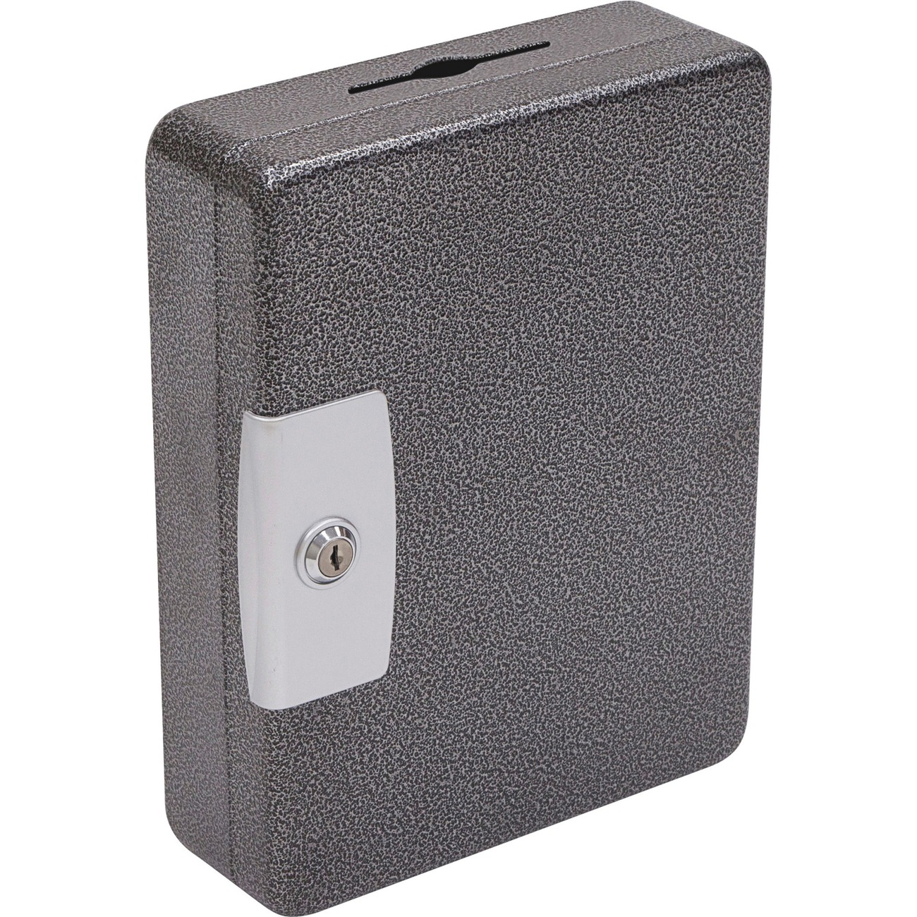 Drawn Formed Seamless Body And A Lock That Resists Prying Or Tampering Unique Key Drop Slot Is Perfect For After Hours Security