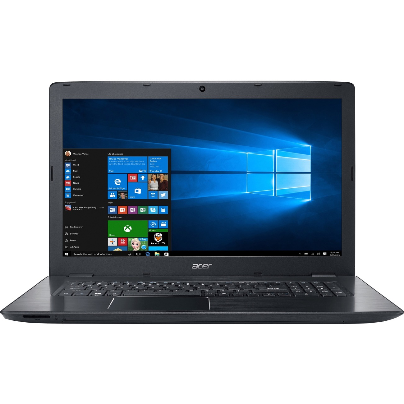 "New Acer Aspire E5-774-50sy 17.3"" Lcd Notebook - Intel Core I5 I5-7200u 2.50 Ghz"