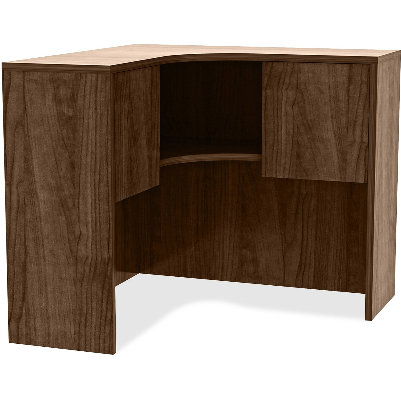 Corner Hutch Fits On Lorell Essentials Series Laminate Desks To Expand Your Storage Space And Create Configurations Make The Most Efficient Use Of