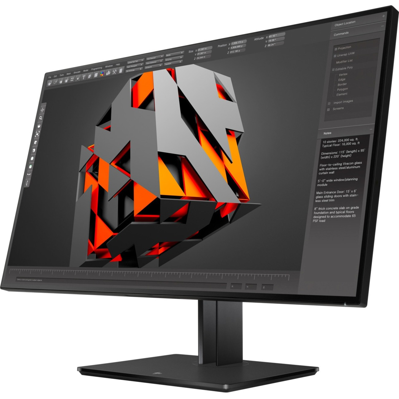 "HP Business Z32 31.5"" 4K UHD WLED LCD Monitor - 16:9 - Black_subImage_1"