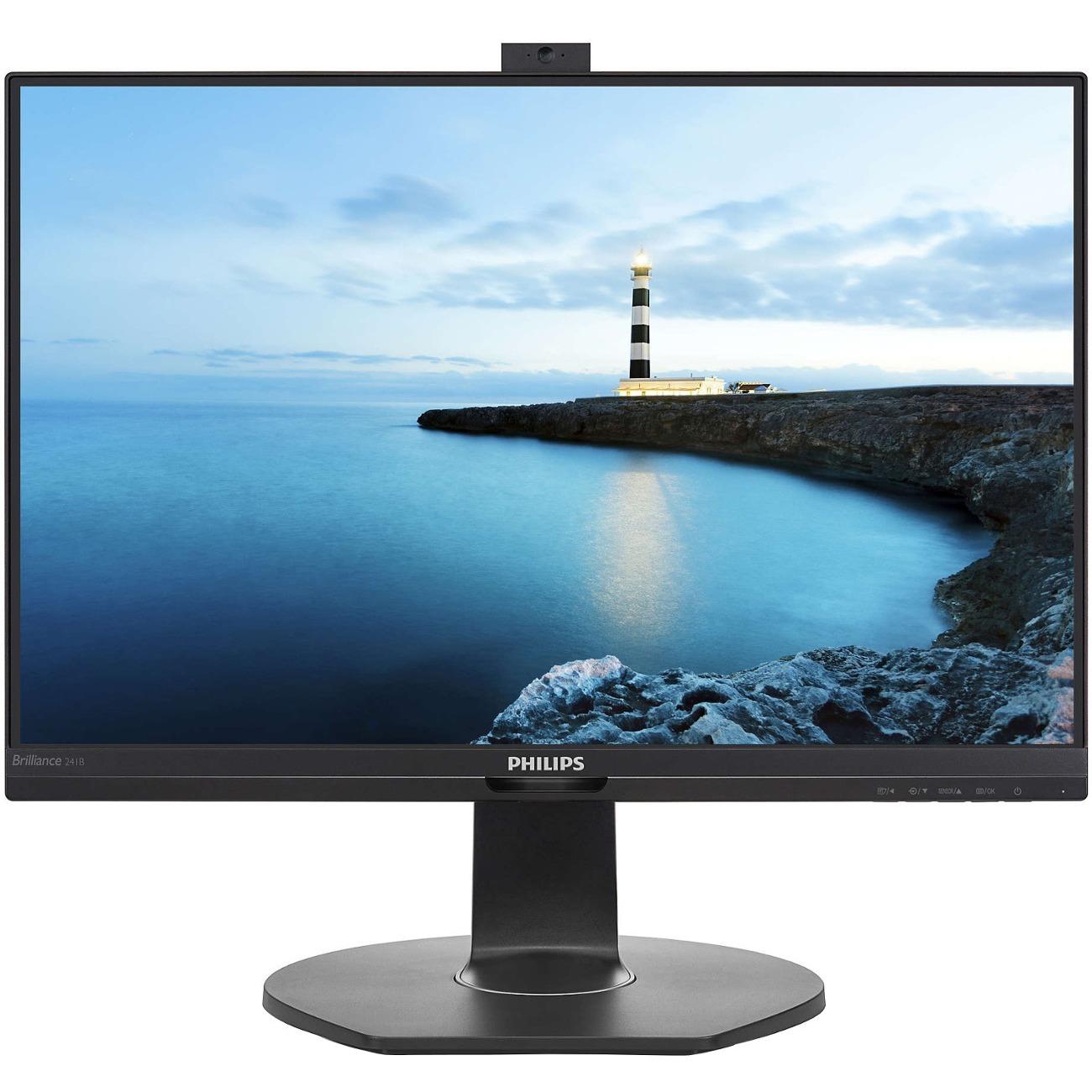 "Philips Brilliance 241B7QPJKEB 23.8"" Full HD LED LCD Monitor - 16:9 - Textured Black_subImage_1"