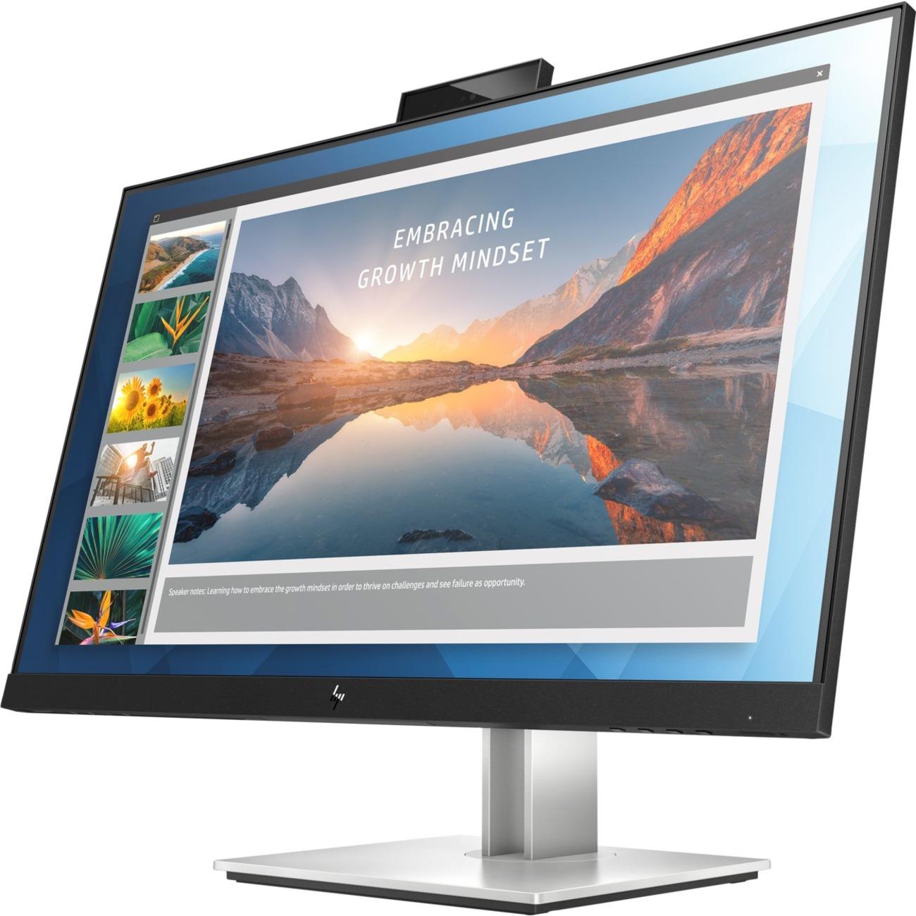 "HP E24d G4 23.8"" Full HD LED LCD Monitor - 16:9 - Black, Silver_subImage_1"