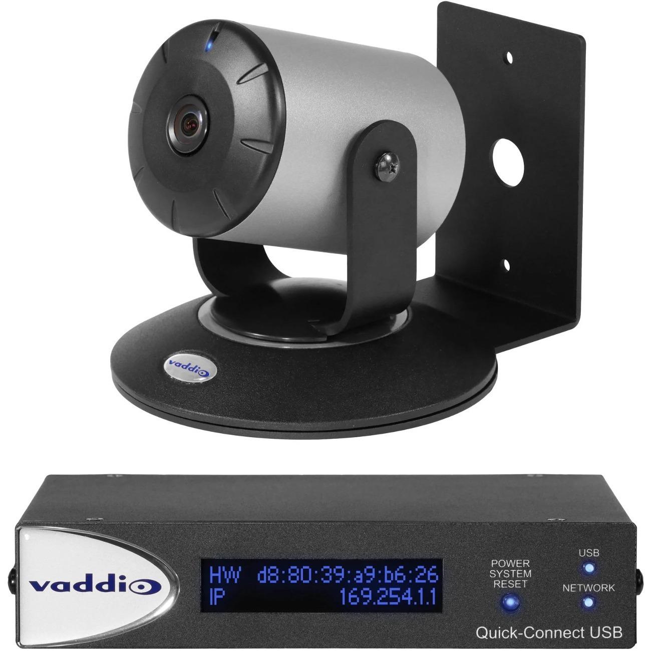 Vaddio WideSHOT Video Conferencing Camera - 2.1 Megapixel - 60 fps - Silver, Black_subImage_1