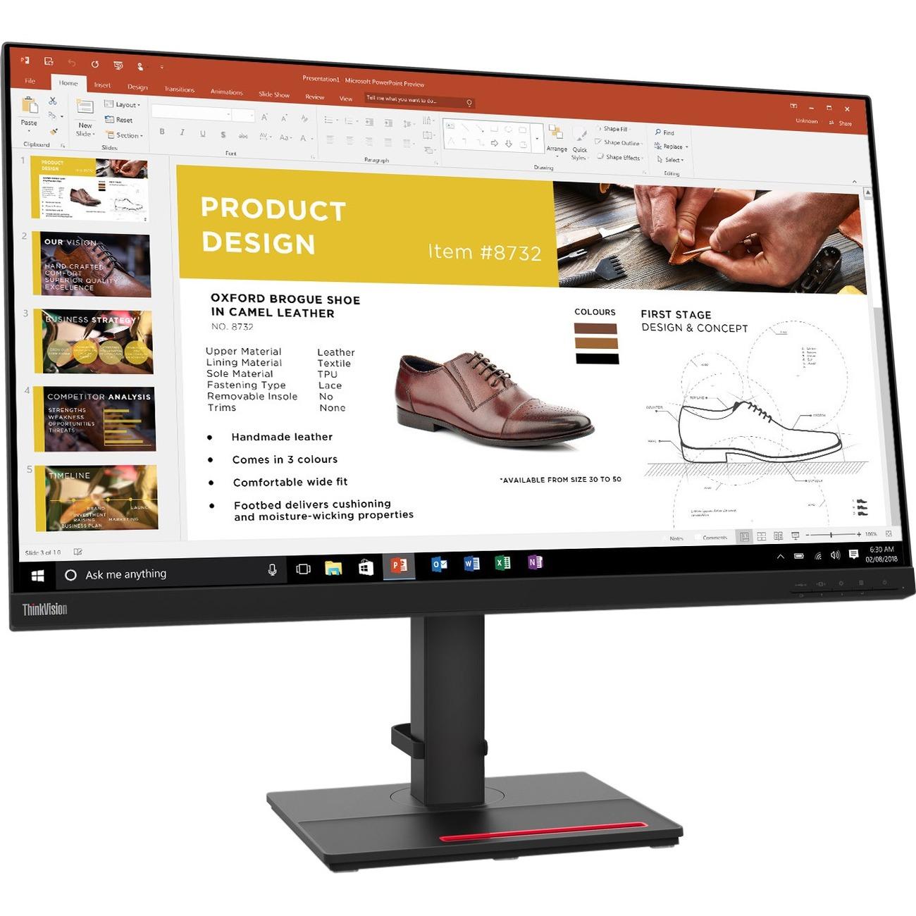 "Lenovo ThinkVision P32P-20 31.5"" 4K UHD WLED LCD Monitor - 16:9 - Raven Black_subImage_1"