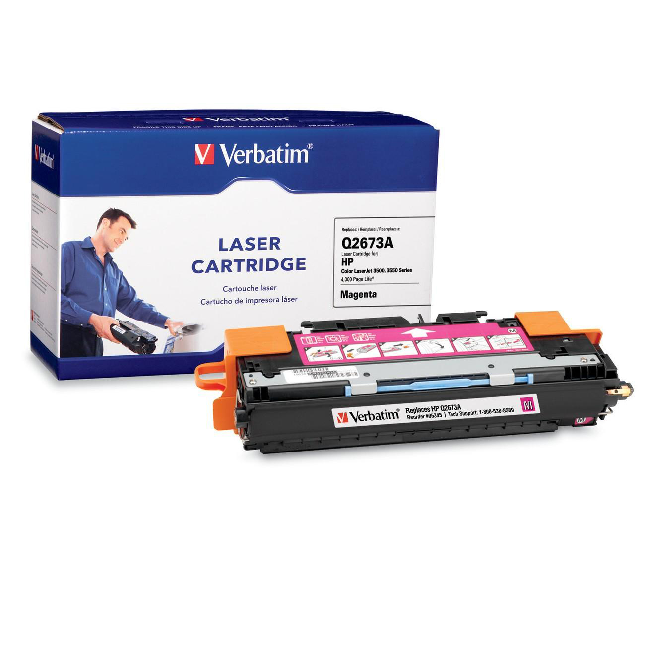 Verbatim Magenta Toner Cartridge Replacement For HP Q2673A 95345