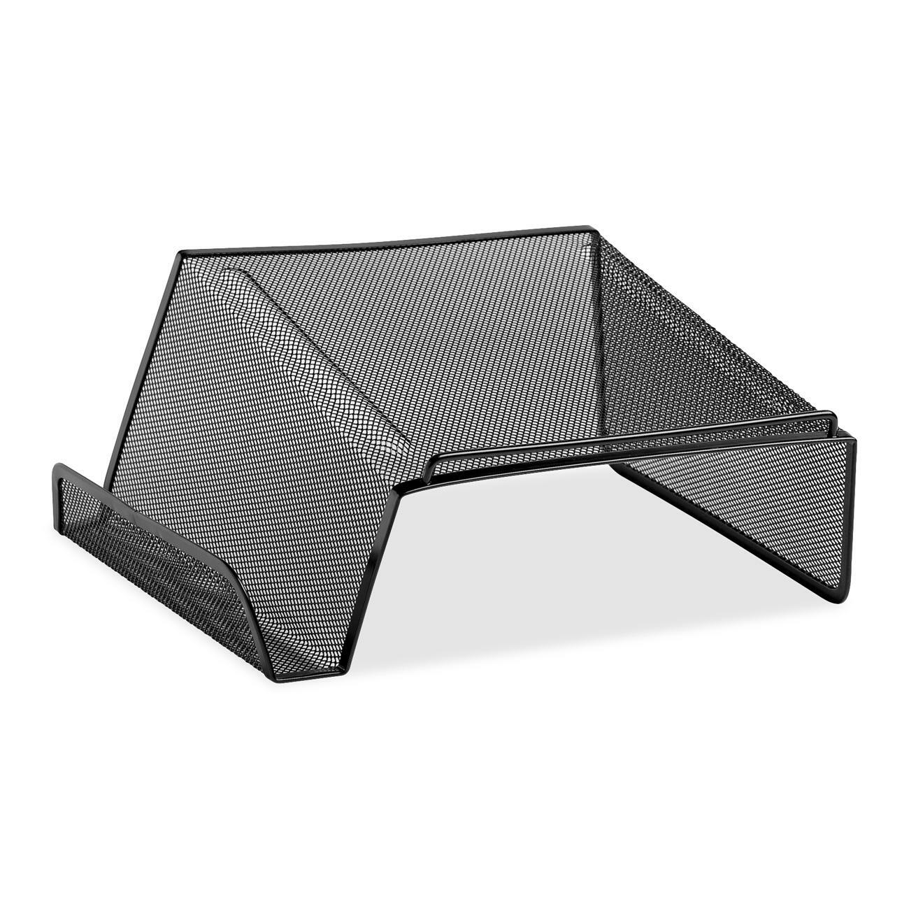 Mesh Phone Stand Raises Telephone Off The Desktop Area Below Accommodates Books Up To 8 3 4 Wide Side Compartment Holds Memo Pad And Pen