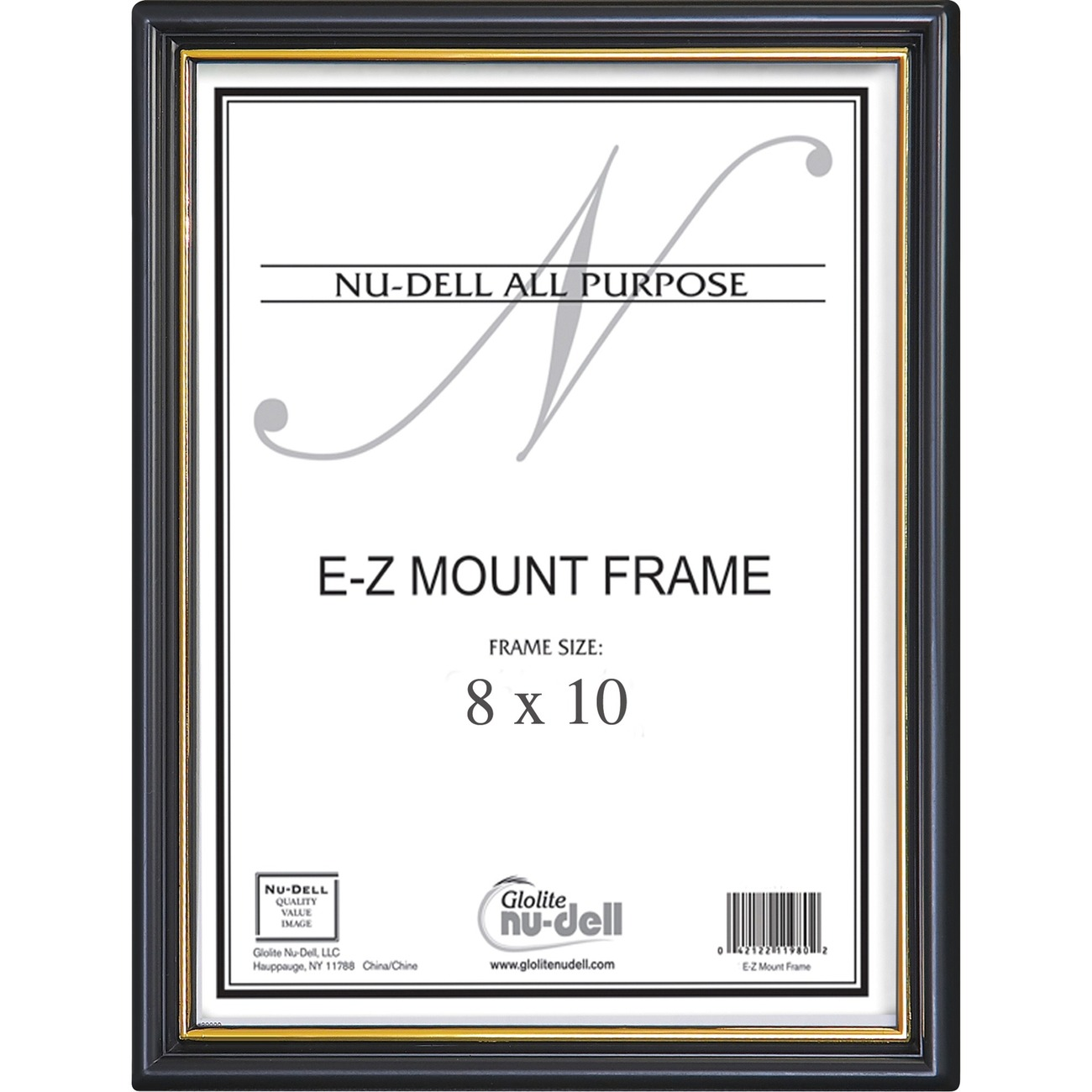 plastic wall frame features a gold stripe on the inside edge to highlight documents photographs and awards clear face is made of plastic