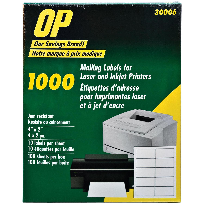 op brand mailing label opb30006