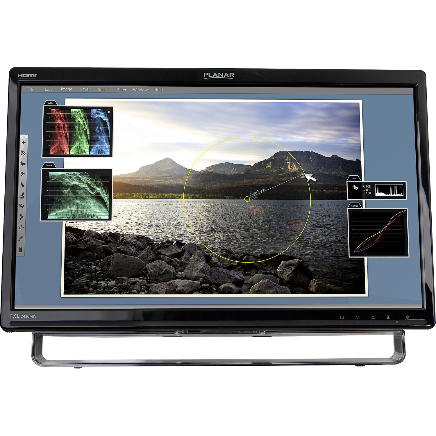 """Planar PXL2430MW 24"""" LCD Touchscreen Monitor - 16:9 - 5 ms_subImage_1"""