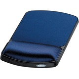 "Fellowes Gel Wrist Rest and Mouse Rest - Sapphire/Black - 10.1"" x 6.3"" x 0.9"" Dimension - Sapphire - Gel, Lycra - Wear Resistant, Tear Resistant"