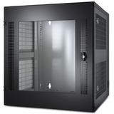 APC NetShelter WX 13U w/Threaded Hole Vertical Mounting Rail Glass Front Door Black