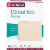Smead 10320, 1/2 Cut Manila File Folders, SMD10320