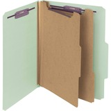 Smead 14076, Plain 2/5 Tab Colored Classification Folders, SMD14076